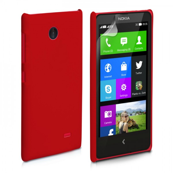 YouSave Accessories για Nokia X Θήκη Hybrid και Screen_Protector - Κόκκινη(ΚΙΝ414RED)