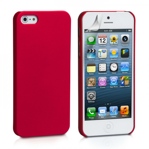 YouSave Accessories για Apple iPhone 5/5S Θήκη Hybrid και Screen_Protector - Κόκκινη(ΚΙΝ447RED)