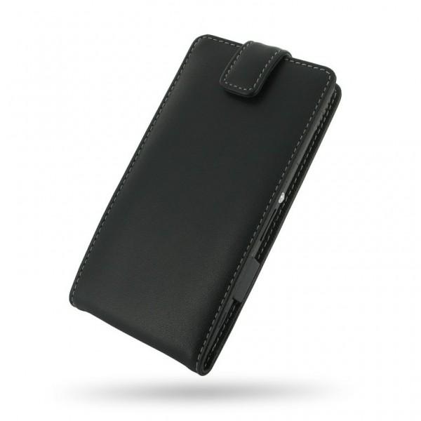 Advanced Accessories για Sony Xperia Z1 Δερμάτινη Μαύρη θήκη Flip(ΚΙΝ162)