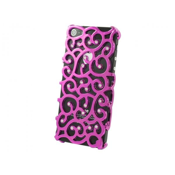 Advanced Accessories για Apple iPhone 5/5S Allure Diamond Ροζ Θήκη και Μεμβράνη Προστασίας Οθόνης(ΚΙΝ137)