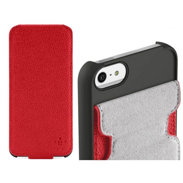 Θήκη Belkin για iPhone 5/5S Κόκκινη Snap Folio (ΚΙΝ215)