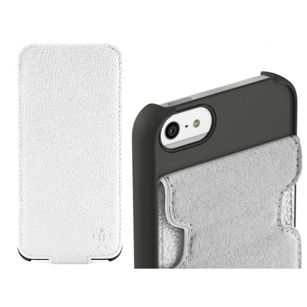 Θήκη Belkin για iPhone 5/5S Λευκή Snap Folio (ΚΙΝ216)