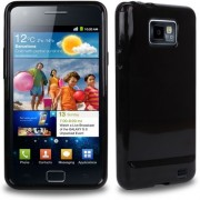 Advanced Accessories για Samsung Galaxy S2 Μαύρη θήκη Gel Slim Fit και Μεμβράνη Προστασίας Οθόνης(ΚΙΝ028)