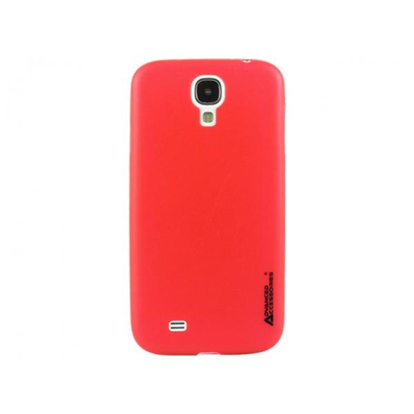 Advanced Accessories για Samsung Galaxy S4 Κόκκινη θήκη Ghost και Μεμβράνη Προστασίας Οθόνης (ΚΙΝ117)