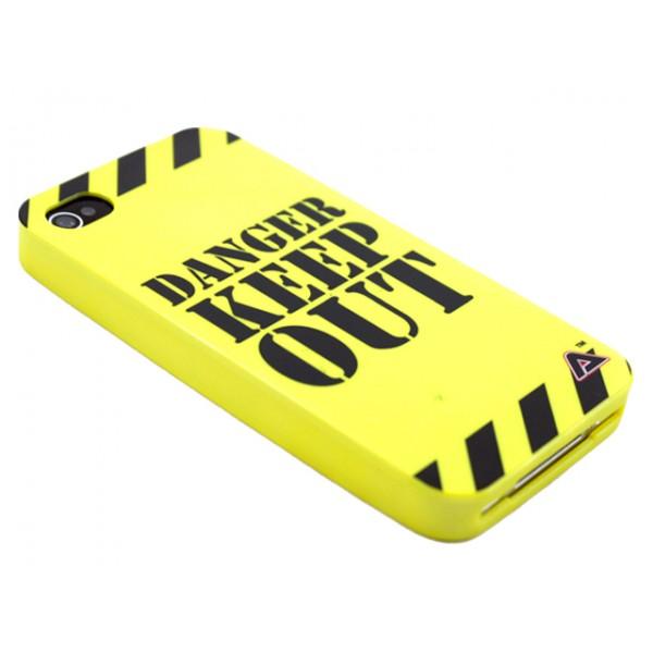 Advanced Accessories για Apple iPhone 4/4S Θήκη Jelli Danger Keep Out και Μεμβράνη Προστασίας Οθόνης(ΚΙΝ223)