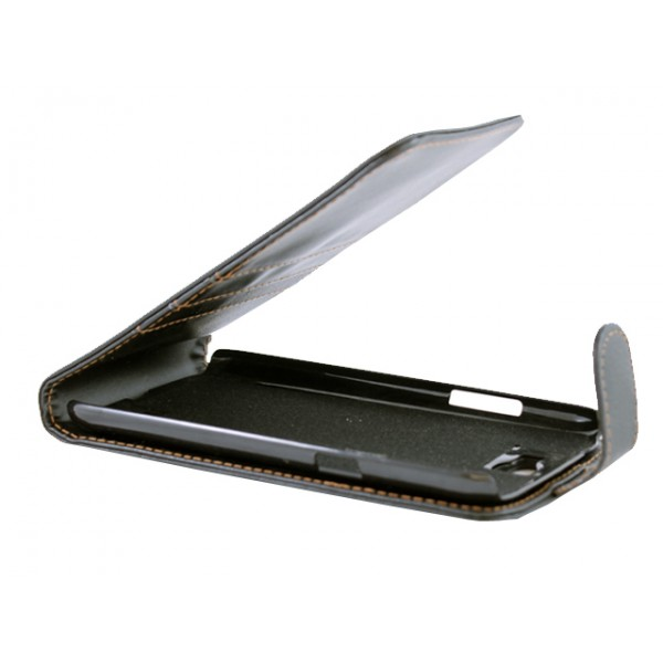 Advanced Accessories για Samsung Galaxy Note 2 Δερμάτινη Μαύρη θήκη FLIP και Μεμβράνη Προστασίας Οθόνης(ΚΙΝ076)