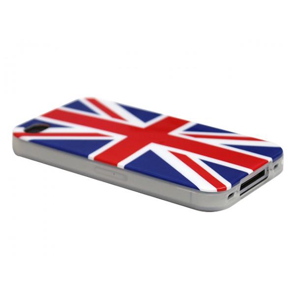Advanced Accessories για Apple iPhone 4/4S Θήκη Jelli Union Jack και Μεμβράνη Προστασίας Οθόνης(ΚΙΝ220)