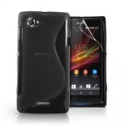 Advanced Accessories για Sony Xperia L Μαύρη θήκη Gel S-Line(ΚΙΝ104)