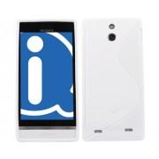 Advanced Accessories για Sony Xperia P Λευκή θήκη Gel S-Line και Μεμβράνη Προστασίας Οθόνης(ΚΙΝ081)