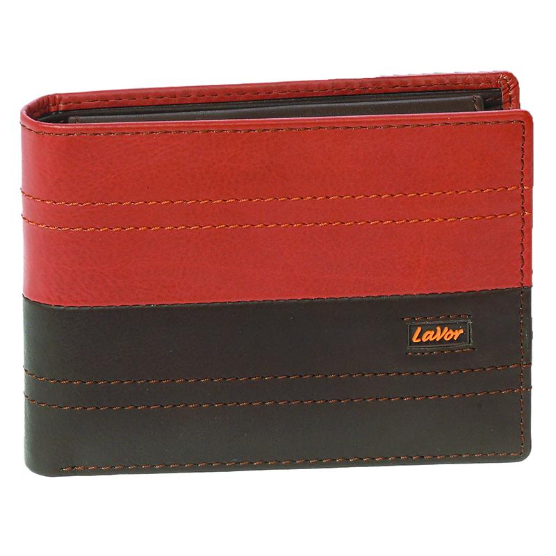 Δερμάτινο ανδρικό πορτοφόλι LAVOR 1-5854 σε καφέ χρώμα