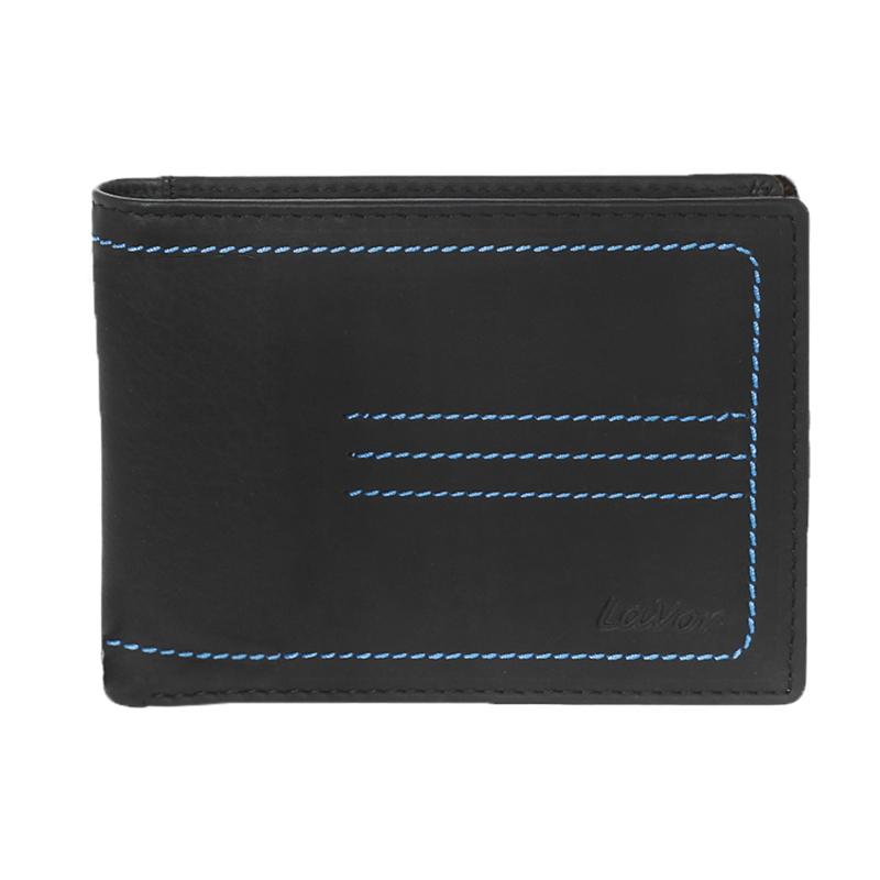 Δερμάτινο ανδρικό πορτοφόλι LAVOR 1-5906 σε μαύρο χρώμα