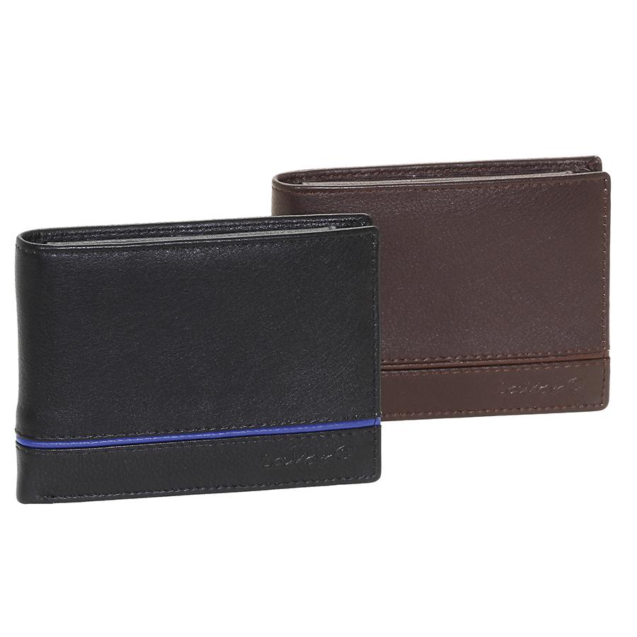 Δερμάτινο ανδρικό πορτοφόλι LAVOR 7010BL ΜΕ RFID ΠΡΟΣΤΑΣΙΑ (θήκη ταυτότητας)