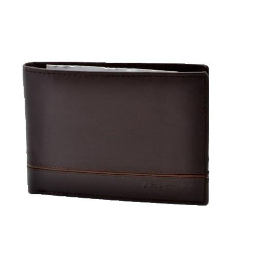 Δερμάτινο ανδρικό πορτοφόλι LAVOR 7010BR ΜΕ RFID ΠΡΟΣΤΑΣΙΑ(θήκη ταυτότητας)