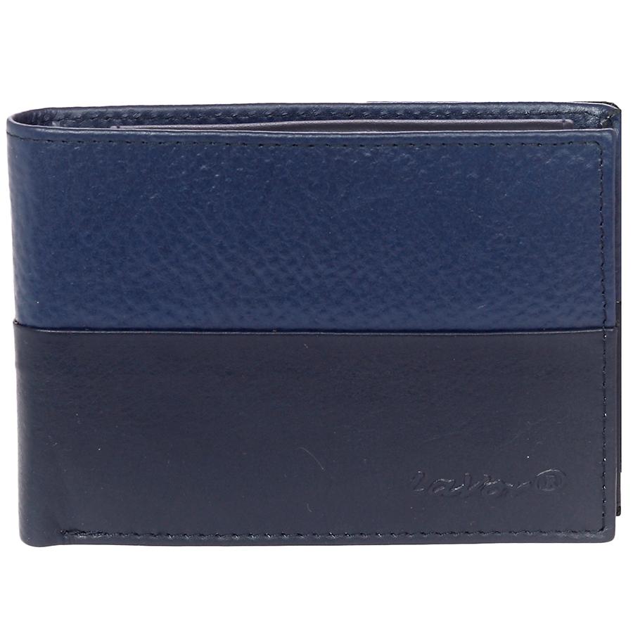 Δερμάτινο ανδρικό πορτοφόλι LAVOR 1-7301BLU (θήκη ταυτότητας& θήκη κερμάτων)