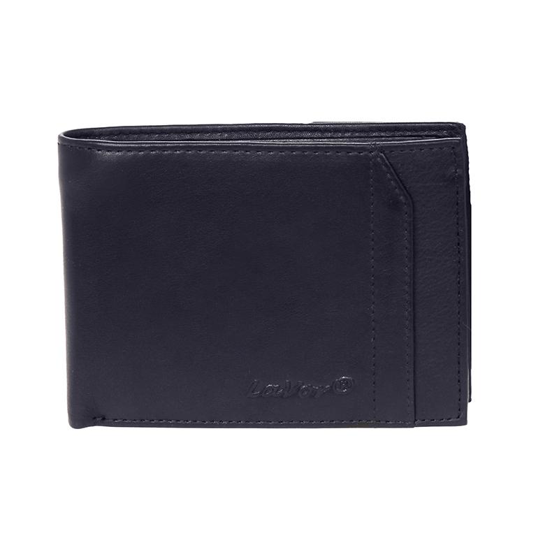Δερμάτινο ανδρικό πορτοφόλι LAVOR 1-7303BLU<ΜΠΛΕ ΧΡΩΜΑ> (Θήκη ταυτότητας & Θήκη κερμάτων)