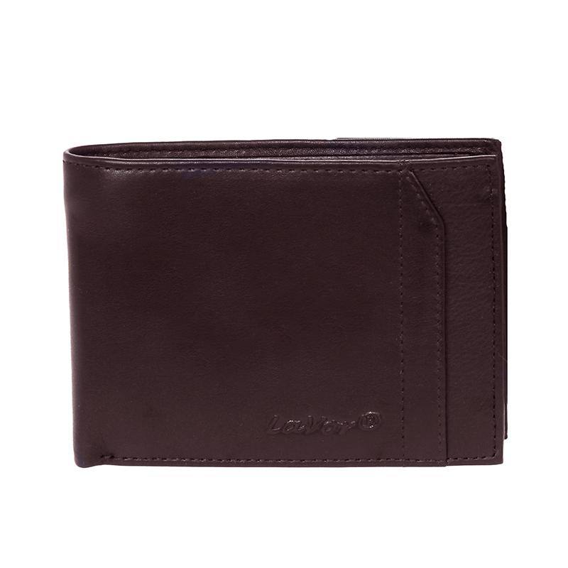 Δερμάτινο ανδρικό πορτοφόλι LAVOR 1-7303Br<ΚΑΦΕ ΧΡΩΜΑ> (Θήκη ταυτότητας & Θήκη κερμάτων)