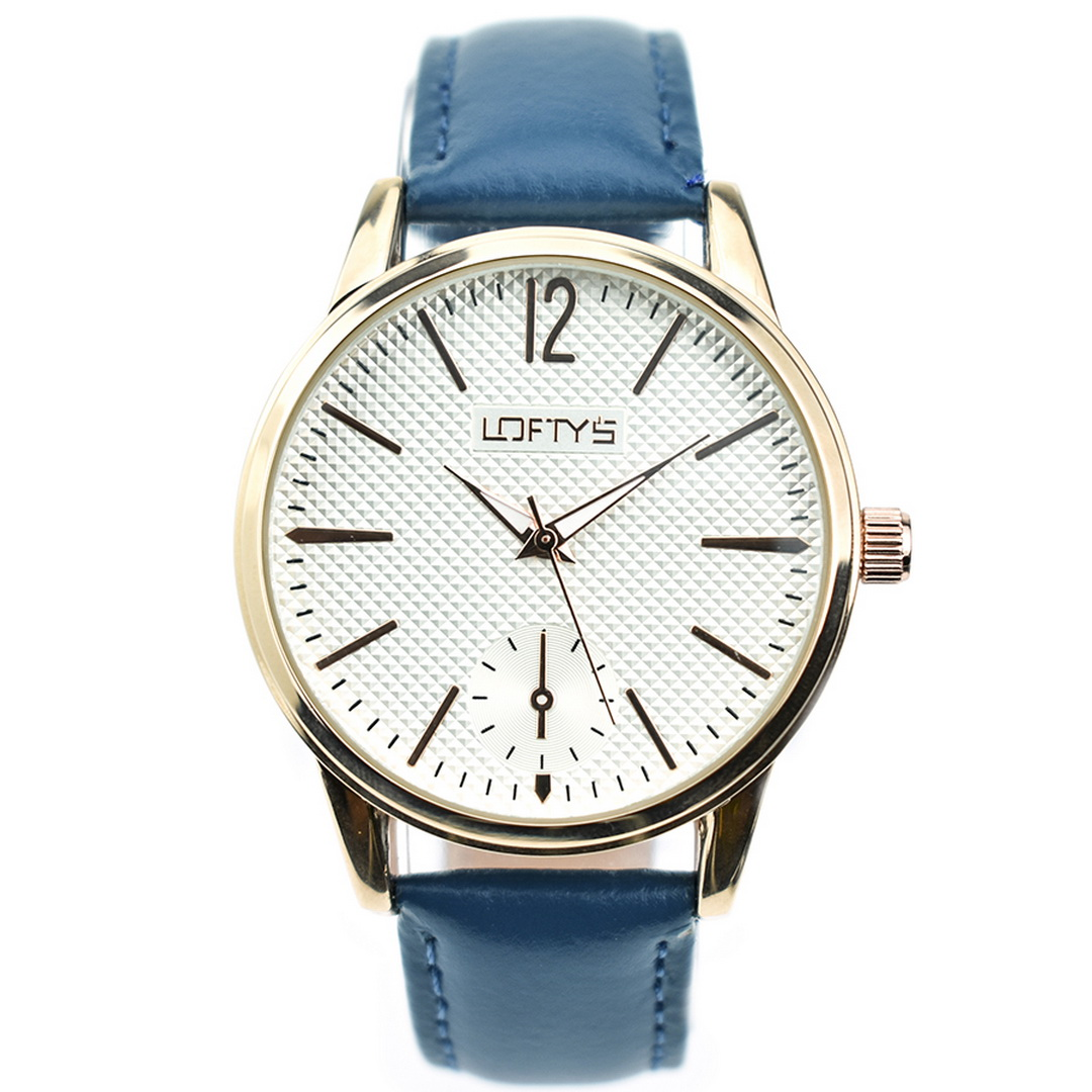 Ρολόι LOFTYS Cosmopolitan Blue Genuine Leather Strap Y3405-17