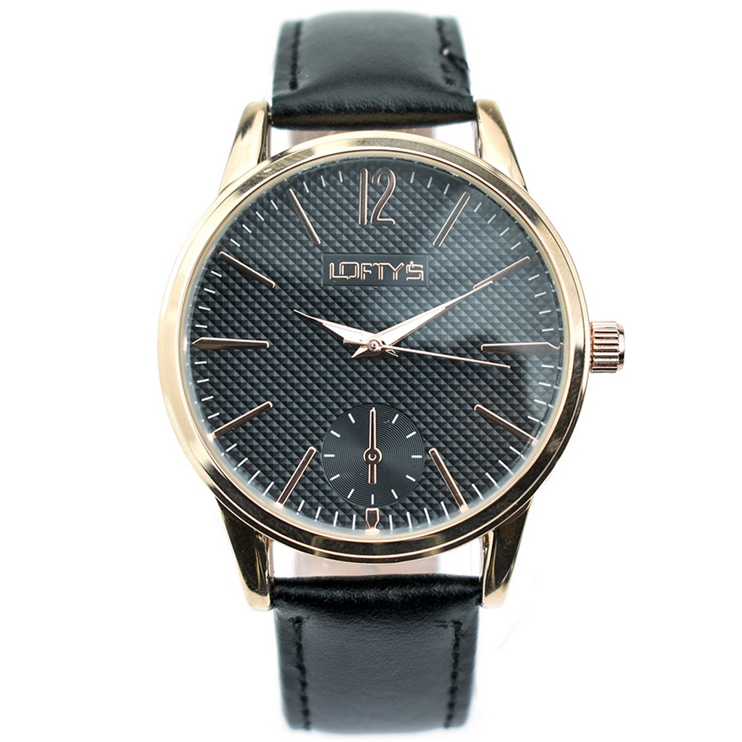 Ρολόι LOFTYS Cosmopolitan Black Genuine Leather Strap Y3405-2