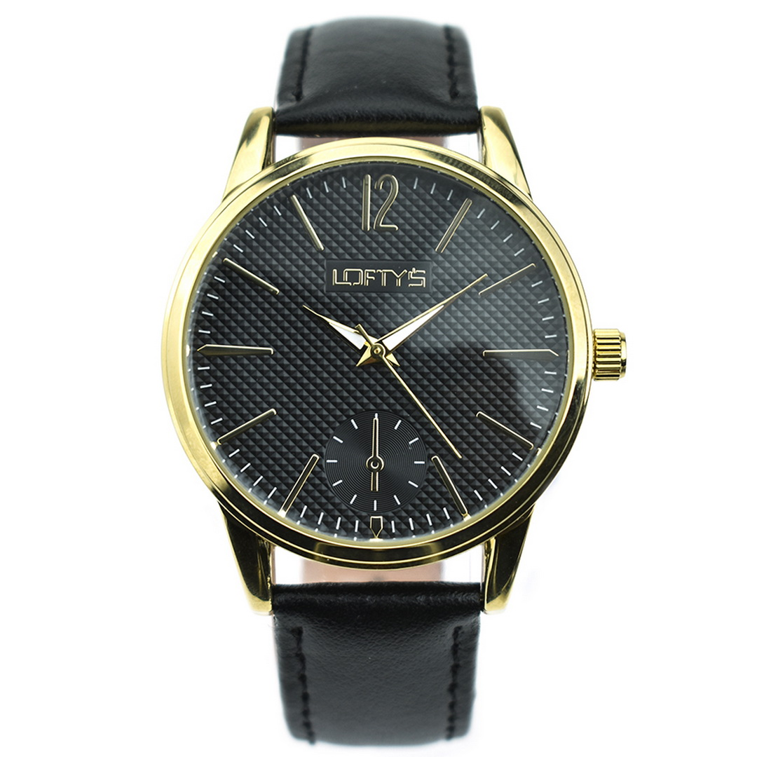 Ρολόι LOFTYS Cosmopolitan Black Genuine Leather Strap Y3405-1