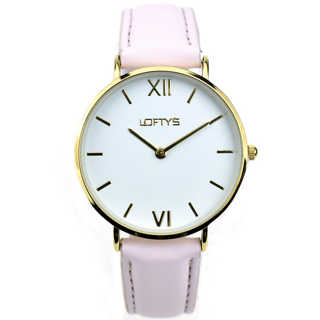 Ρολόι LOFTYS Vintage Pink Genuine Leather Strap Y3406-16