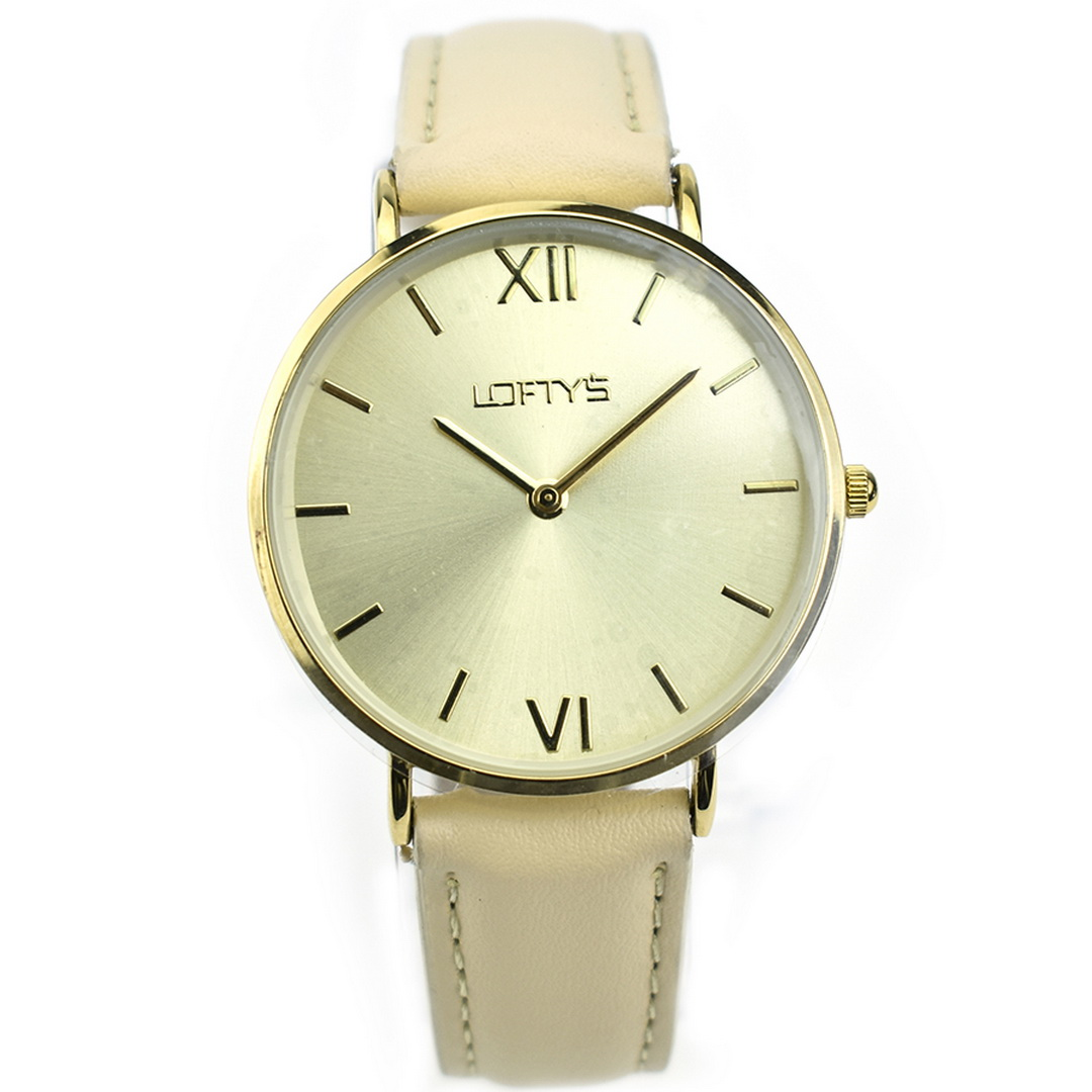 Ρολόι LOFTYS Vintage Beige Genuine Leather Strap Y3406-9