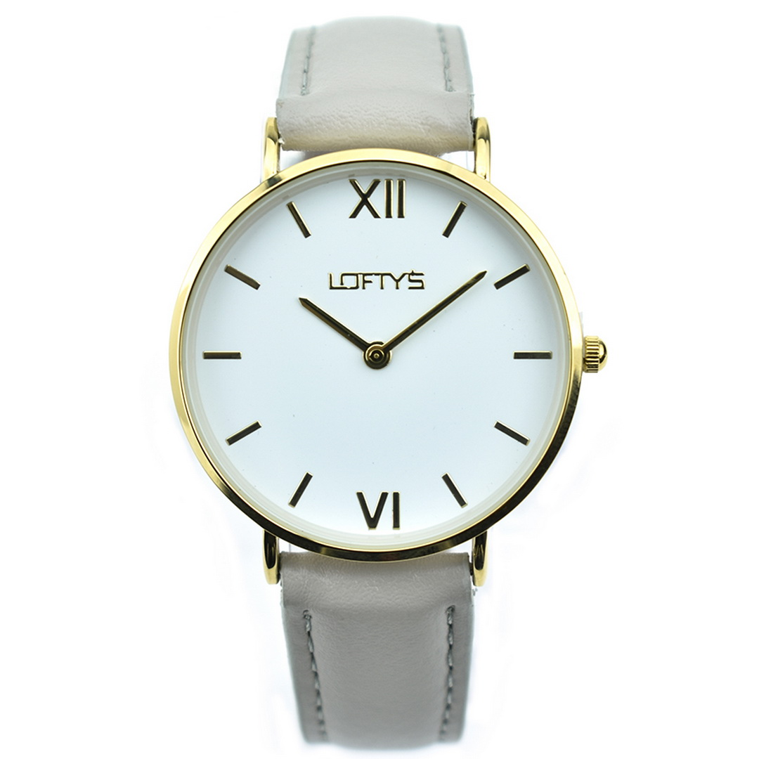 Ρολόι LOFTYS Vintage Grey Genuine Leather Strap Y3406-32