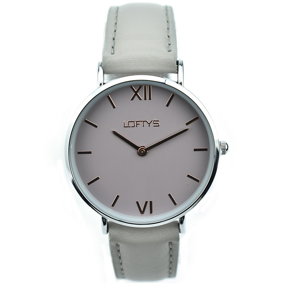 Ρολόι LOFTYS Vintage Grey Genuine Leather Strap Y3406-29