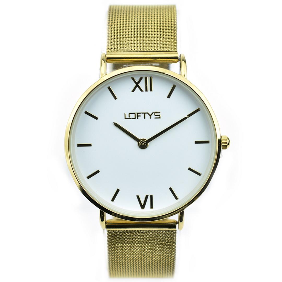 Ρολόι LOFTYS Vintage Gold Mesh Strap Y3406-34