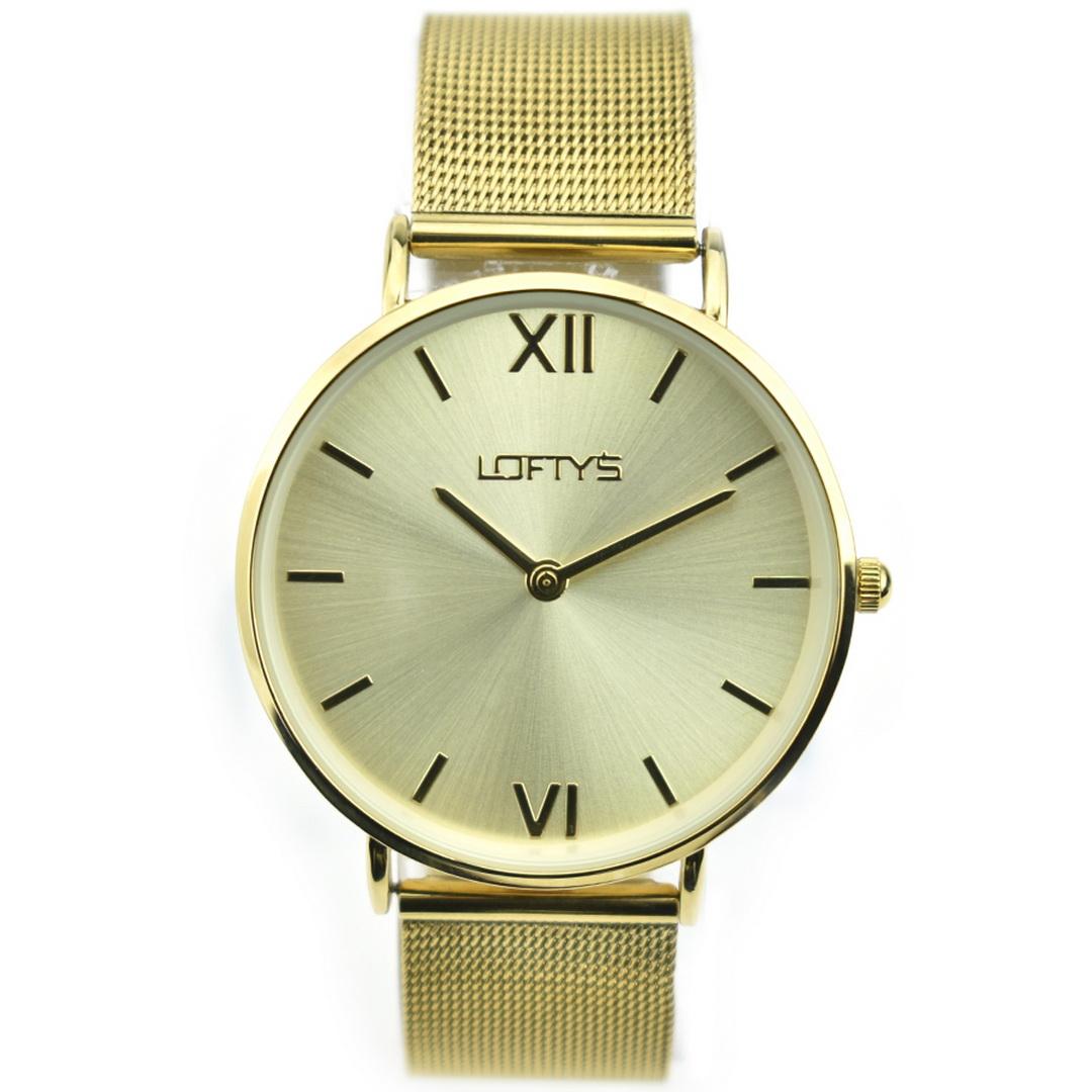 Ρολόι LOFTYS Vintage Gold Mesh Strap Y3406-33