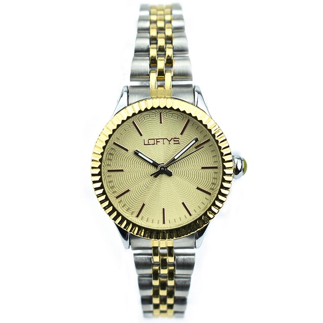 Ρολόι LOFTYS Elegant Silver Gold Bracelet Y2009-3