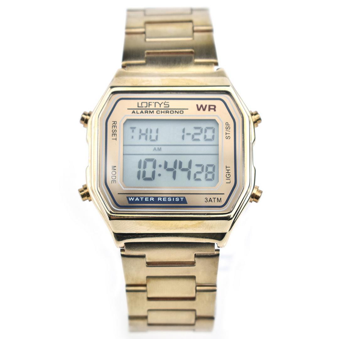 Ρολόι LOFTYS Digital Watch Rose Gold Metal Bracelet Y2004-1