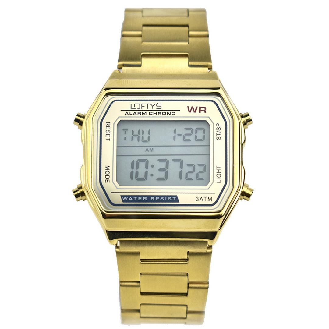 Ρολόι LOFTYS Digital Watch Gold Metal Bracelet Y2004-2