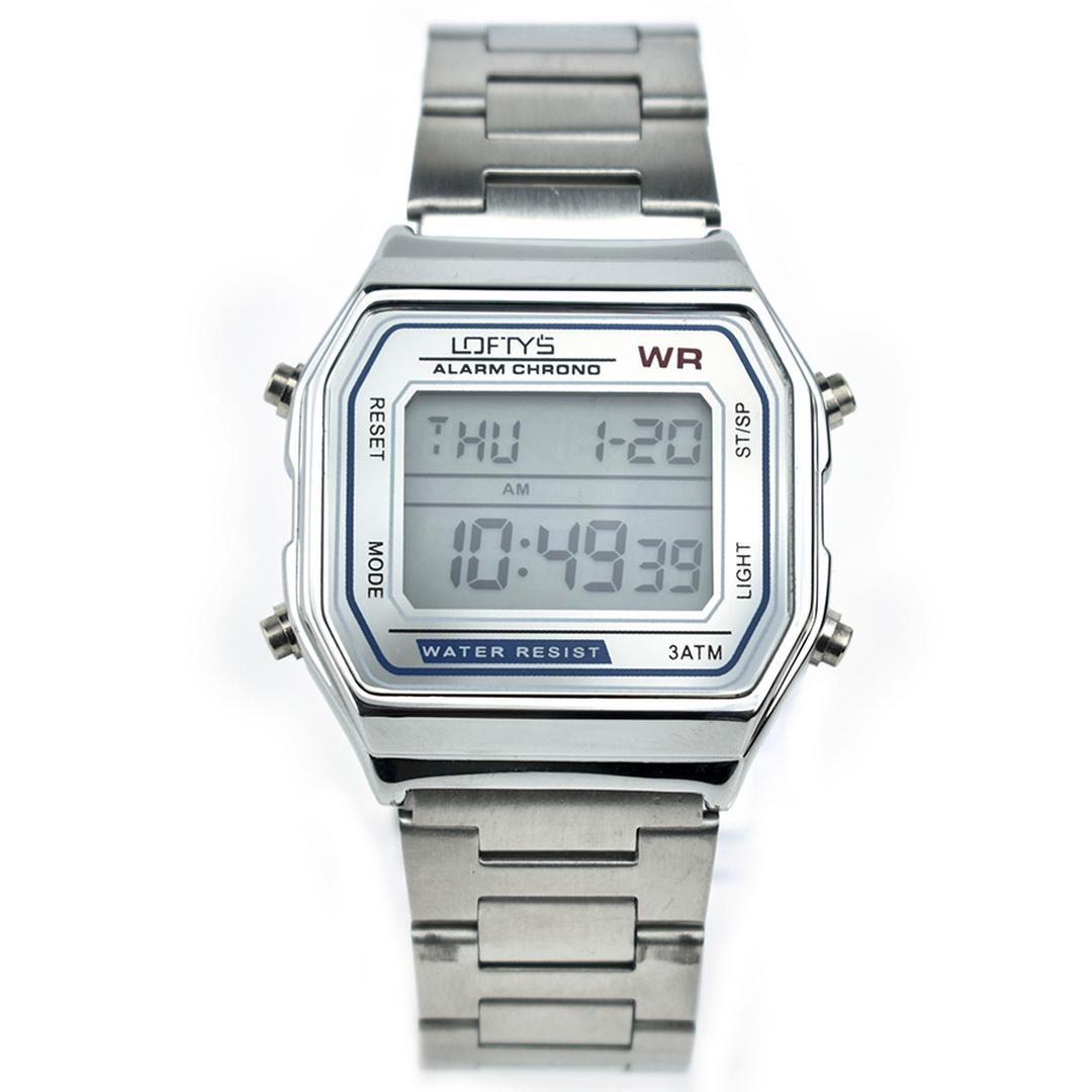 Ρολόι LOFTYS Digital Watch SILVER Metal Bracelet Y2004-3