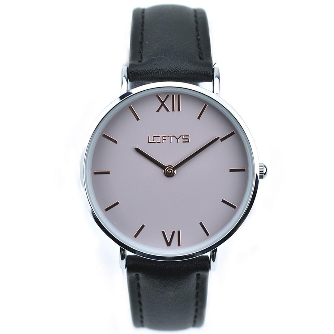 Ρολόι LOFTYS Vintage Black Genuine Leather Strap Y3406-5