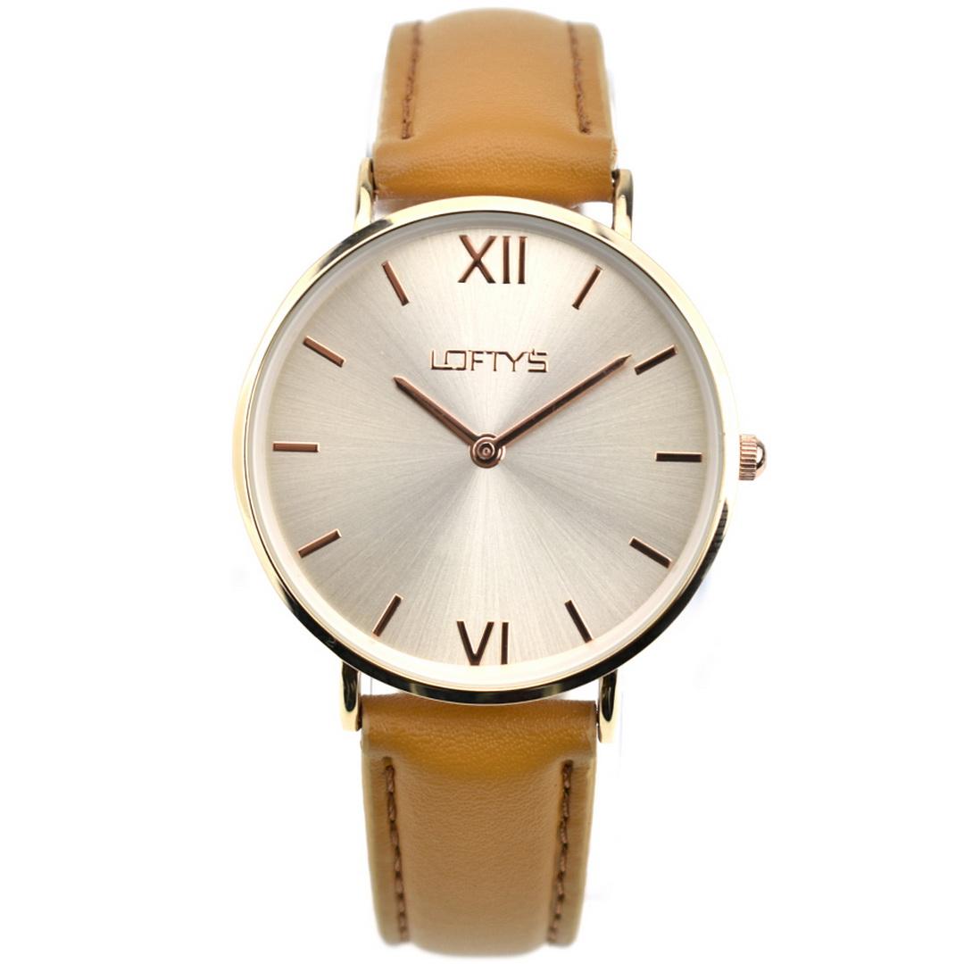 Ρολόι LOFTYS Vintage Brown Genuine Leather Strap Y3406-4