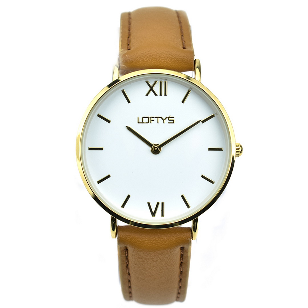 Ρολόι LOFTYS Vintage Brown Genuine Leather Strap Y3406-26