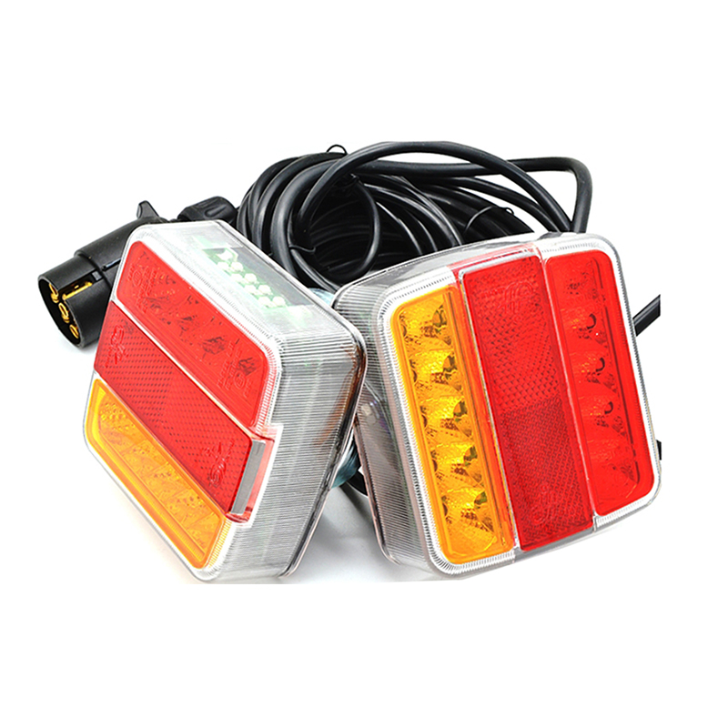 Ζευγάρι Πίσω Φώτα LED Με Μαγνήτη Για Τρέιλερ 12V