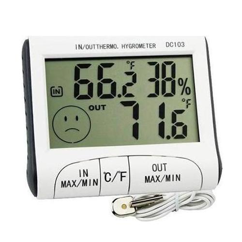 Ψηφιακό Θερμόμετρο-Υγρόμετρο Εξωτερικού-Εσωτερικού Χώρου HUM DC-103