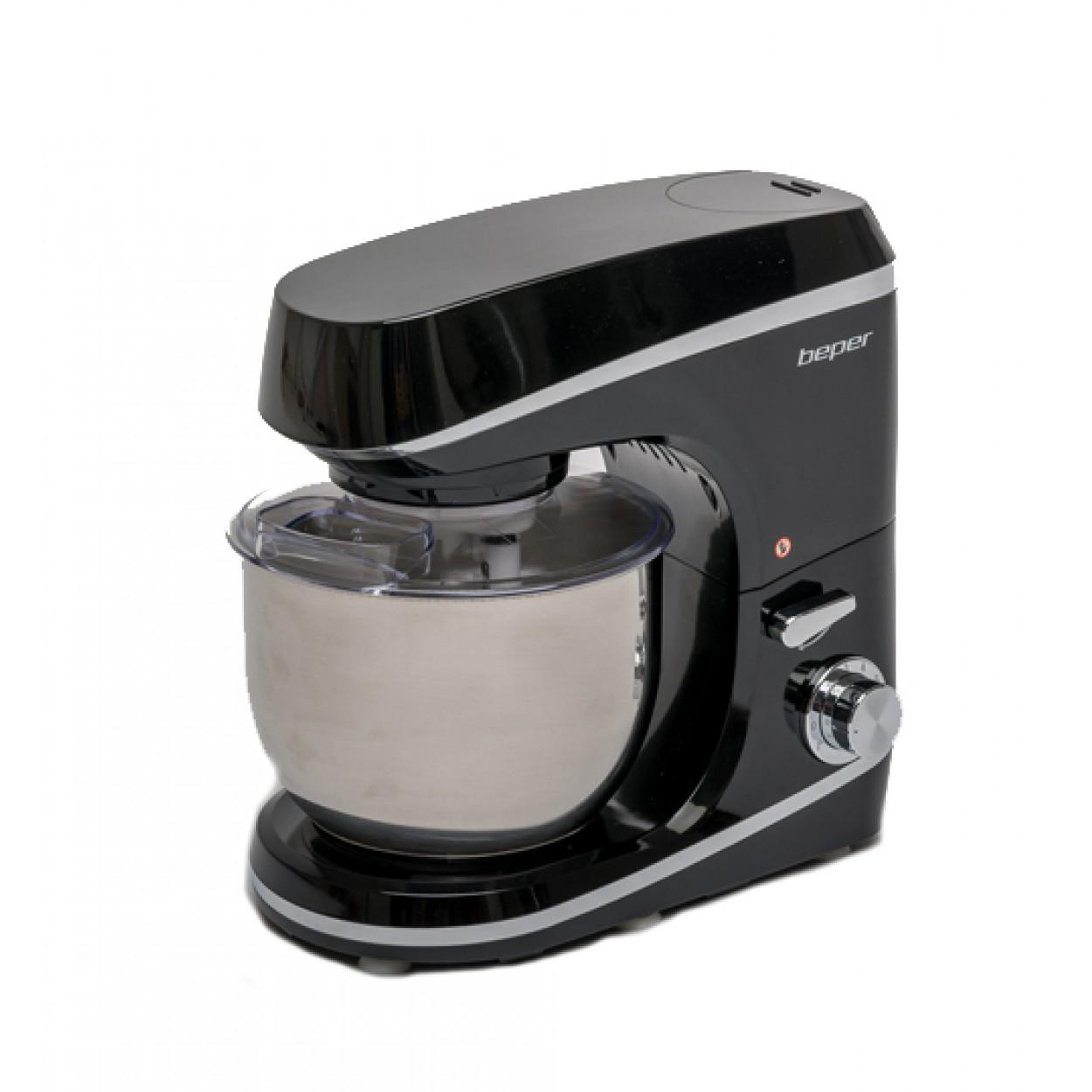 Επιτραπέζιο μίξερ 1000W/5L Μαύρο, BEPER 90.700 (Κουζινομηχανή)