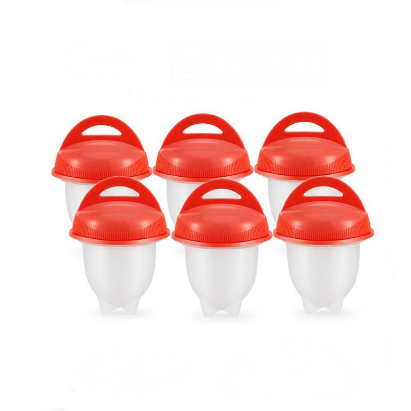 Θήκες σιλικόνης για βράσιμο των αβγών χωρίς τσόφλι 6 τμχ, EGG-01