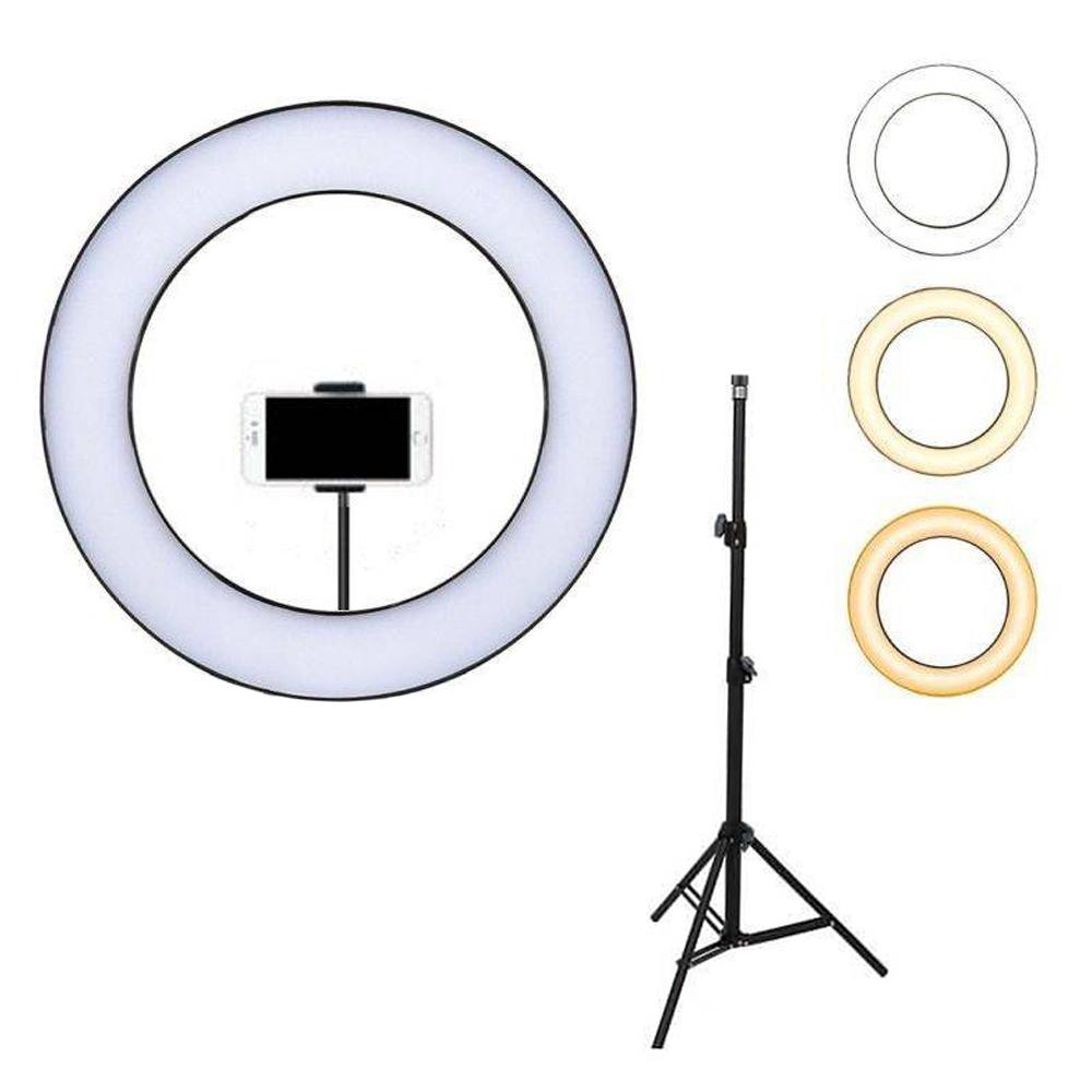 Φωτογραφικό Δαχτυλίδι ring light 25cm Βάση Κινητού με USB φόρτιση & Τρίποδο 1,60cm