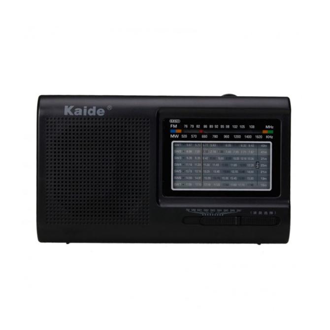 Φορητό αναλογικό ραδιόφωνο (9 band) AM/FM/TV/SW1-7 Μπαταρίας/Ρεύματος-Kaide KK-2005A