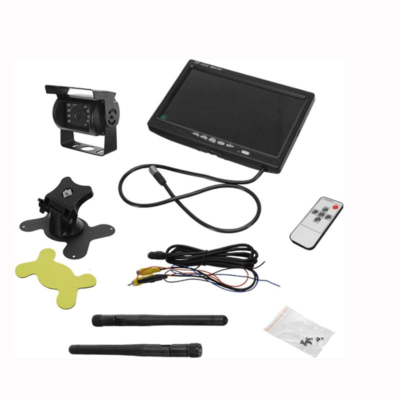 """Ασύρματη Wireless Κάμερα Οπισθοπορείας με Οθόνη 7"""" 10-30V με Ασύρματο Χειριστήριο για Αυτοκίνητα και Φορτηγά GloboStar 77349"""
