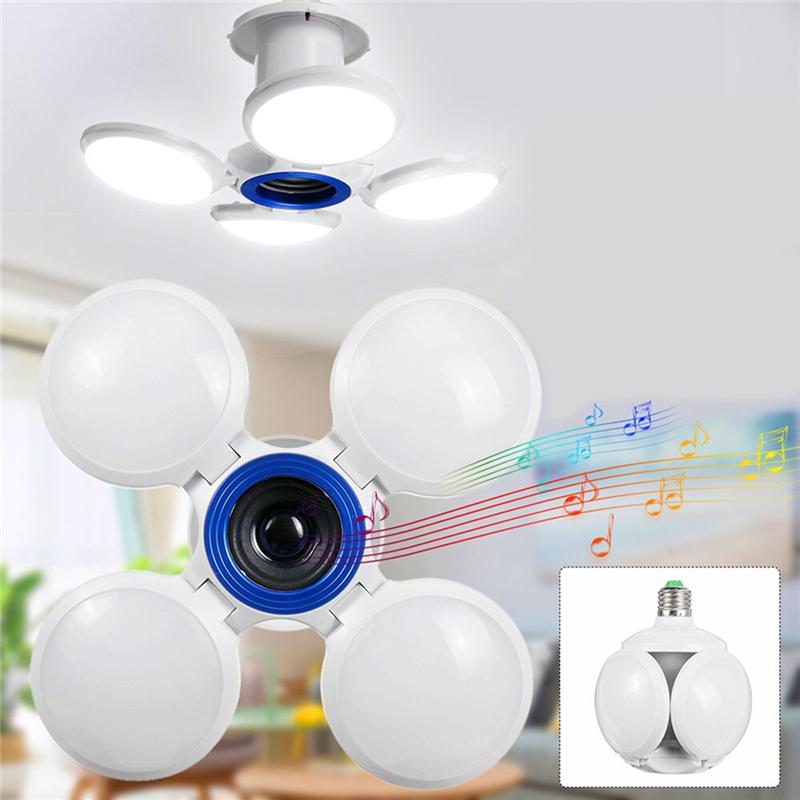 Αναδιπλούμενη Οικονομική Λάμπα- Ηχείο - Φωτιστικό σε Σχήμα Μπάλα με Bluetooth Ε27 Βιδωτή LED 40W - Football UFO Lamp