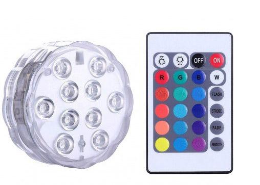 Αδιάβροχο - Υποβρύχιο Τηλεχειριζόμενο Πολύχρωμο LED Φωτάκι - Remote Controlled Submersible LED Light
