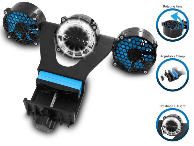 Ανεμιστήρας ψησταριάς με 12 LED Technical pro