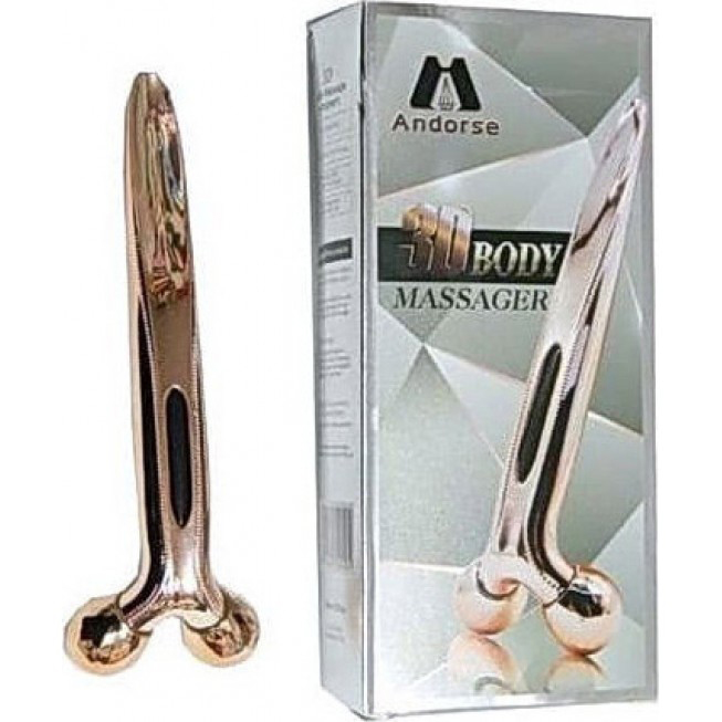 Androse 3D Roller Massager for Face and Body-Χρυσό
