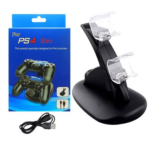 iPlay HB-P4002B Dual Port Charging Dock Station for PS4 Pro/Slim Black