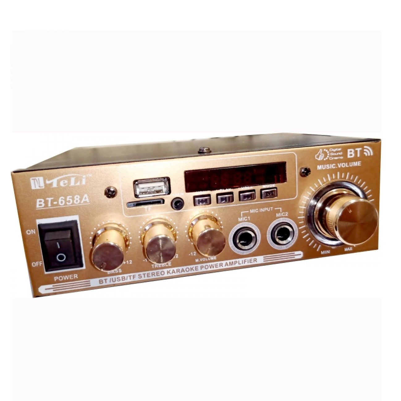 Ενισχυτής Audio Teli BT-658A ,Karaoke, Radio, Bluetooth, Usb ,TF card, 30W με remote control
