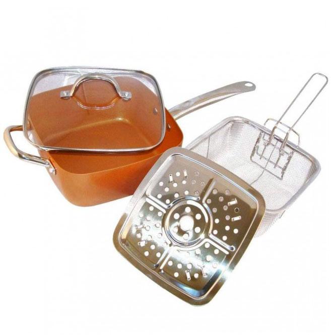 Κεραμικό τηγάνι με κάπακι σερβιρίσματος Migas
